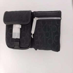 Belt Tandy Logo Black Faux Leather